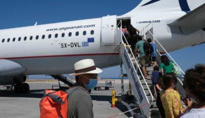 Aegean Airlines Airbus A320 At Santorini International Airport In Greece
