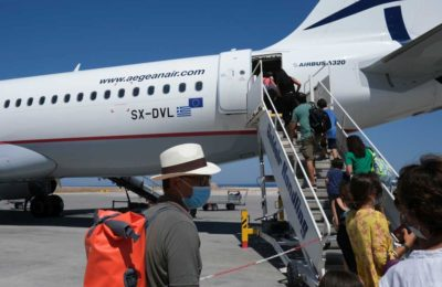 Aegean Airlines Airbus A320 At Santorini International Airport In Greece