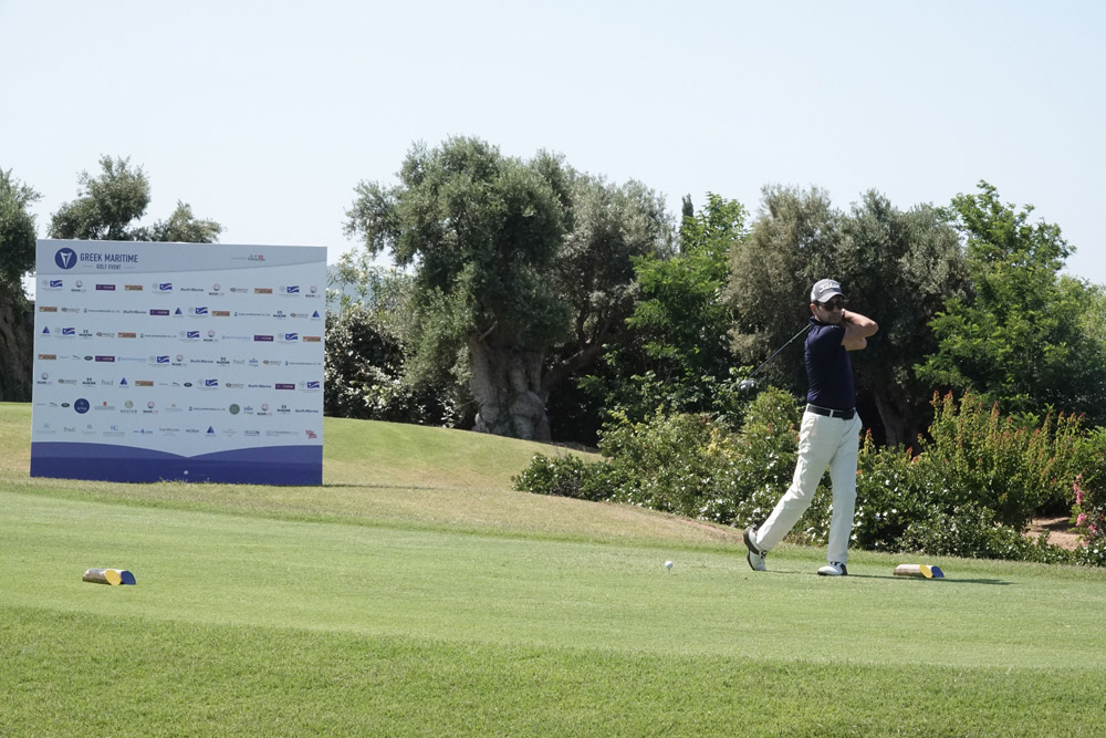 Golf action among centuries-old olive trees (Greek Maritime Golf Event by Charis Akriviadis).