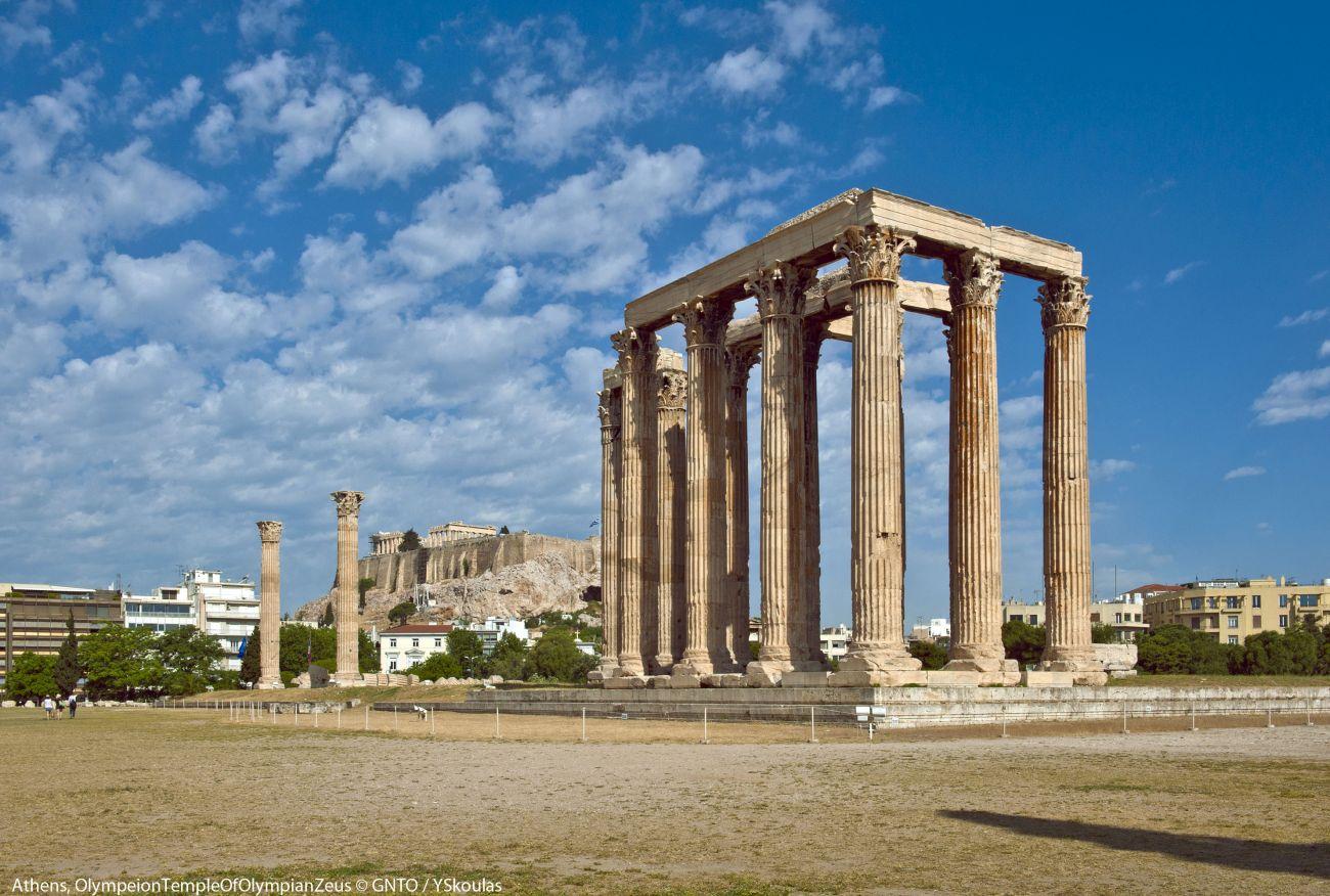 Olympeion Temple of Olympian Zeus, Athens. Photo source: GNTO / Y.Skoulas