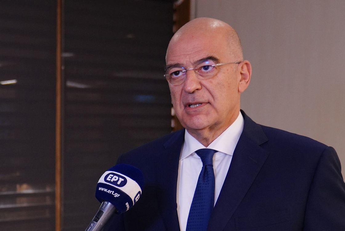 Greek Foreign Minister Nikos Dendias.
