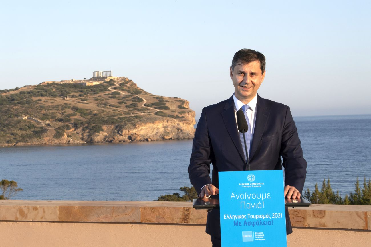 Greek Tourism Minister Harry Theoharis.