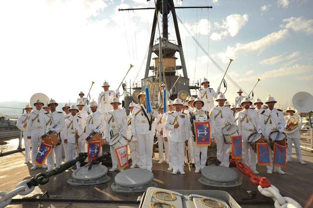 The music band of the Hellenic Navy will connect the historic naval battle of Artemision with the present and honor the naval feat (photo by Hellenic Navy Music Band)
