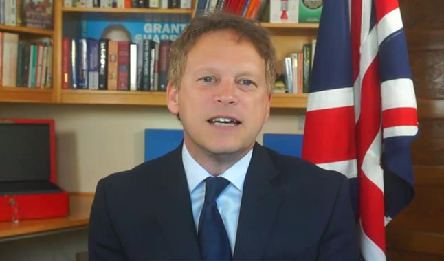 UK Transport Secretary Grant Shapps.