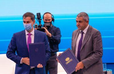 Greek Tourism Minister Harry Theoharis and UNWTO Secretary-General Zurab Pololikashvili. Photo source: UNWTO