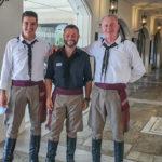 Greek hospitality in traditional Cretan costume