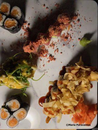 Great sushi and sashimi at the Cloud Bar.