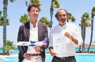 ATR Chief Executive Stefano Bortoli and IOGR Group CEO Ioannis Grylos.