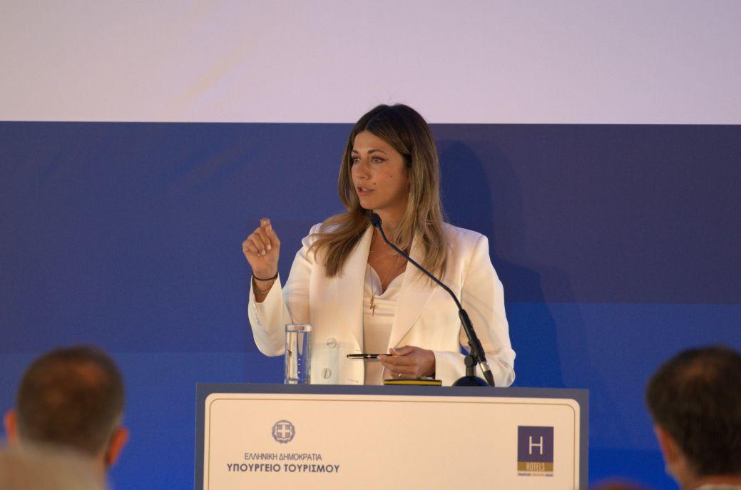 Deputy Tourism Minister Sofia Zacharaki.