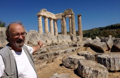 Stephen Miller stands in front of the Temple of Nemean Zeus, southwest of Athens, September 25, 2013. Photo: AP / Source: US Embassy