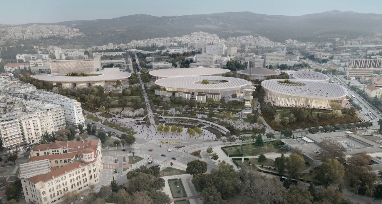 Impression of the winning design for the Thessaloniki ConfEx Park.