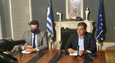 Greek Tourism ministers Harry Theoharis, Vassilis Kikilias
