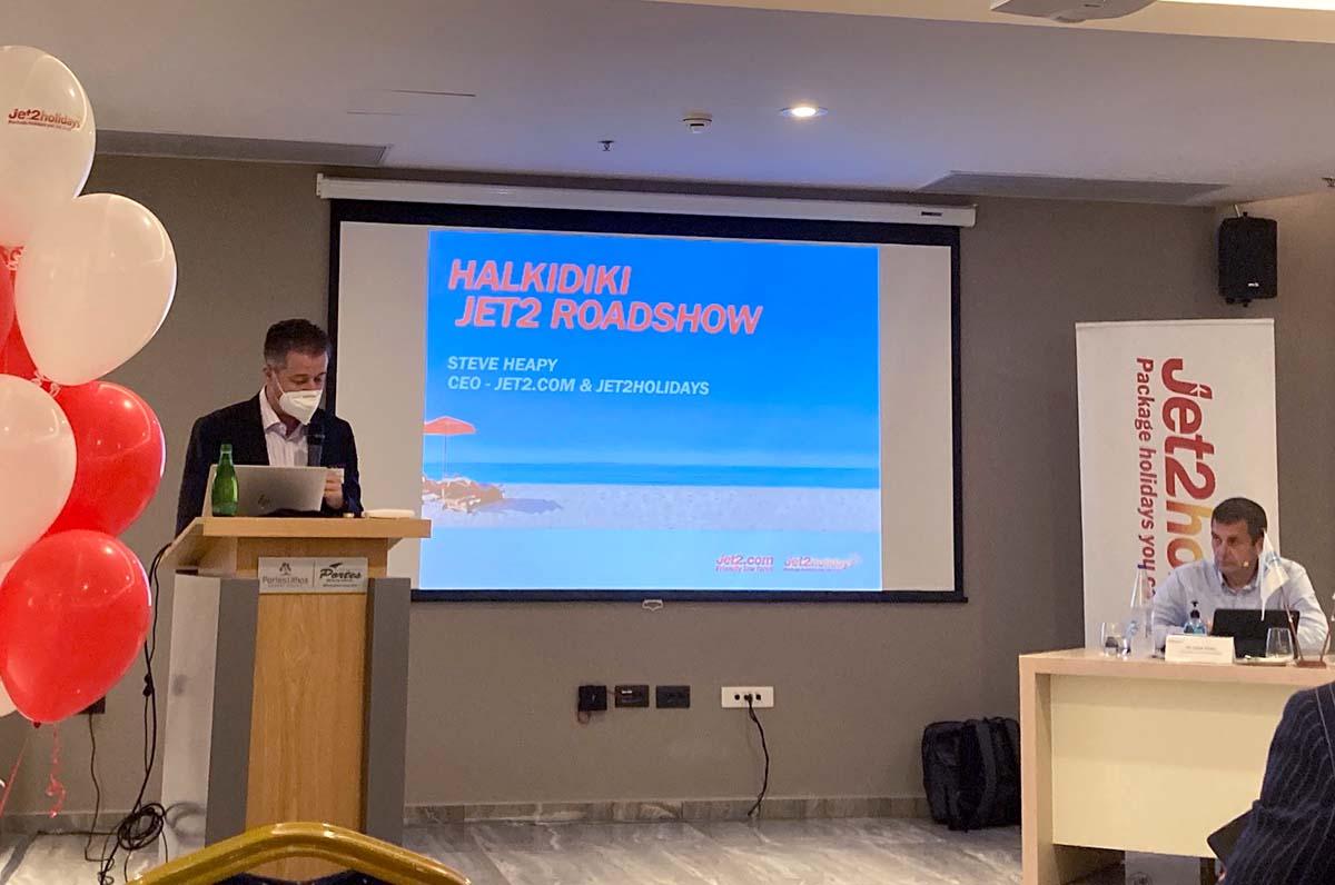 President of the Halkidiki Tourism Organization and President of the Halkidiki Hotel Association, Grigoris Tasios.