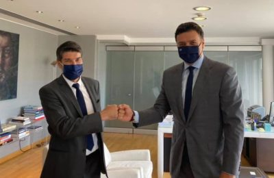 Tourism Minister Vassilis Kikilias and the French Ambassador to Greece, Patrick Maisonnave, recentlty explored ways to expand the tourism cooperation between Greece and France. The Greek minister posted on social media: