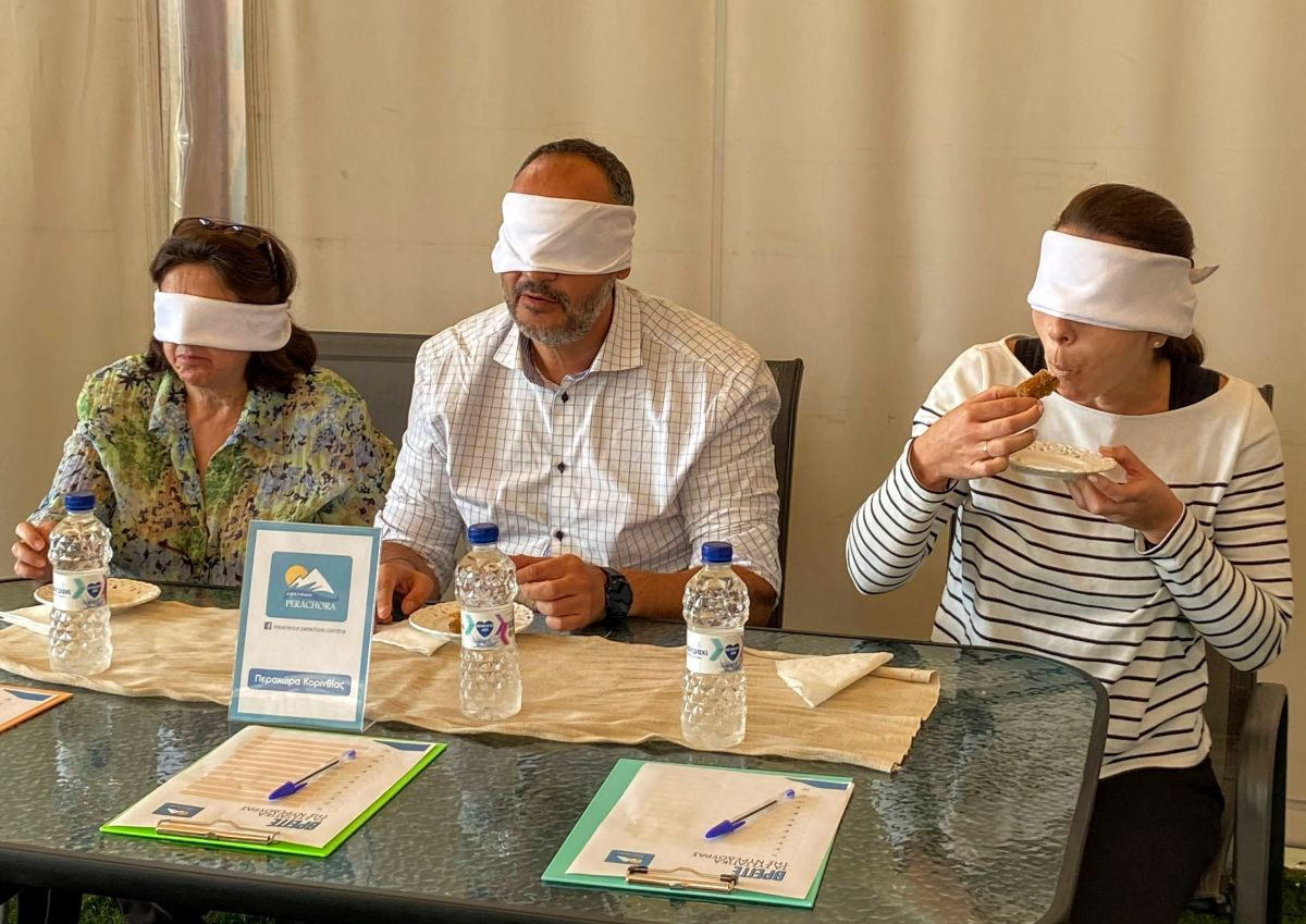 Our very own Sales & Marketing Manager Chariton Brousalian in a blind tasting session. He came in third.