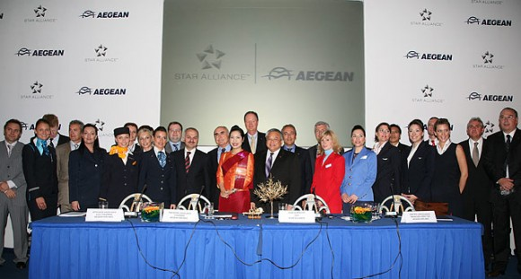 All members of the Star Alliance welcome their future member carrier, Aegean Airlines.