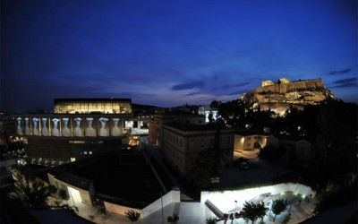 Exterior view of the New Acropolis Museum. According to Dr. Panos Livadas, Greece's secretary general of information, the New Acropolis Museum in Athens has attracted more attention from the world media than any topic, besides the economy.