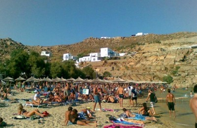 Paradise Beach at Mykonos.