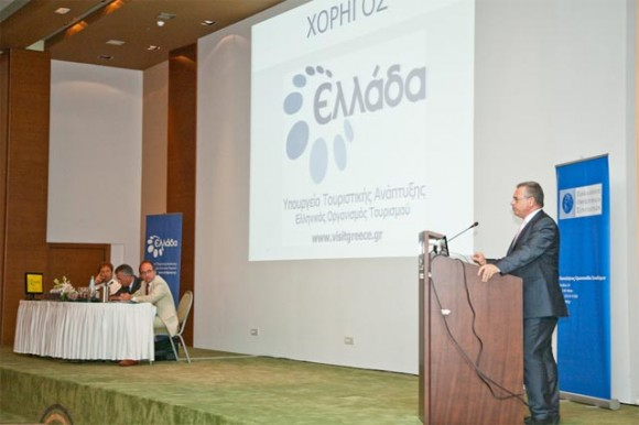 """During his speech at the workshop, Tourism Minister Kostas Markopoulos refered to the GNTO's new portal www.mygnto.gr that is under pilot version but will eventually become """"the permanent Internet gateway for Greece's tourism sector."""""""