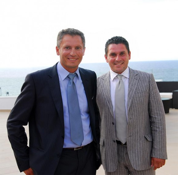 Brothers Kostas and Manolis Troulis, owners of the five-star Deluxe Royal Blue Resort & Spa.