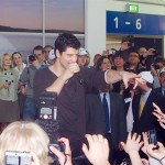 "Greece's highlight at ITB Berlin 2009: Greek Eurovision entrant, Sakis Rouvas, was warmly welcomed at the GNTO's stand where he gave a preview of his upcoming Eurovision performance and had the crowd dancing to the rhythm of Greece's entry song. Tourism Minister Kostas Markopoulos commented: ""Tourism means radiance, culture, art, modern Greece and Eurovision, as this contest is all over Europe...You all saw what happened. The whole exhibition was paralyzed as everyone wanted to see Sakis Rouvas."""