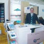 "Dionissis Tsiligiris, hotel manager of Mitsis Hotels, welcomed tourism trade professionals and visitors at the hotel chain's stand. As of the beginning of the year the hotel chain introduced its new magazine entitled ""Unique Destination."""