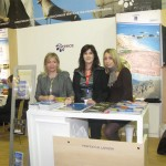 Larissa representatives included Efi Oikonomou from Efilial Travel agency; Athena Boutkarou from the prefect; and Sendy Protopapa. Besides Mount Olympus, religious tourism was also promoted as a guide to the prefecture's religious paths was distributed.