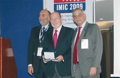 Tassos Koumanis (center), founder and president of Xenia Exhibitions-Conferences. On his left is Kostas Konstantinidis, chairman IMIC advisory board, and on his right is Tassos Pappas (CITE), president SITE Greek Chapter.