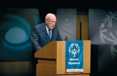 President of the Hellenic Republic, Karolos Papoulias, speaks at the event.