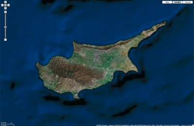 Google-earth Cyprus map