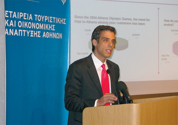 ATEDCO's chief executive, Panagiotis Arkoumaneas, announced the inauguration of info point booths for visitors of the city that are to operate as of this November at the Athens International Airport. This will be the first booth of an integrated network of info points that is to be developed within all areas of tourist interest in Athens.