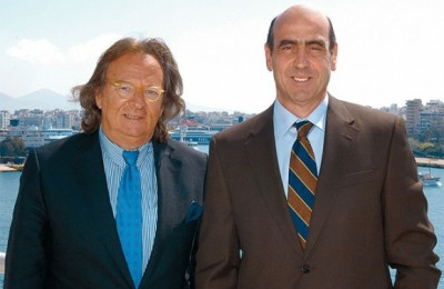 President of the Hellenic Professional Yacht Owners Association Antonis Steliatos with Minister of Mercantile Marine, the Aegean and Island Policy George Voulgarakis, during their recent meeting.