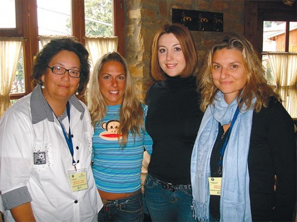 Present throughout the whole course of the familiarization tour of the region of Western Macedonia was Ksanthi Savvopoulou, pictured here with Eleni Soultou, Alexia Palla and Eleni Chanoglou who accompanied the guests on the tour.
