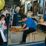 Making traditional pottery was one of the activities at the Cyclades prefecture section.