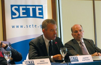 Andreas Andreadis, vice-president of SETE and president of the Hellenic Hotel Federation, made reference to the common real estate tax (ETAK) and sojourn tax that are imposed on the hotel industry. In regards to the federation's aim to lift the sojourn tax, Mr. Andreadis noted that their aim is not to deprive finances from local government, but to find a fair competition model for all.
