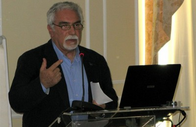 Tourism development adviser to the Marathon municipality, Nicos Lavrentides, speaks at a tourism conference on the subject of Greece's role as a host city to international sport events in combination with attracting tourists. Mr. Lavrentides made reference to the municipality's initiative