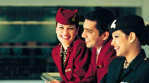 Qatar Airways staff show why they deserve the award for high quality service.