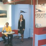 Endeavor Lines' sales and marketing specialist, Tatiana Kontoperaki, with the company's chief executive officer, Dimitris Tzanetatos. Athens-based Endeavor is fairly new to the ferry line sector, but not to the shipping sector, and has placed two vessels on the Greece-Italy route.