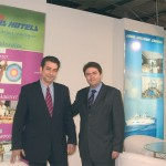 The Louis stand was shared by its companies Louis Hotels and Louis Hellenic Cruise Lines with the hotel company represented by Pavlos Gyparis, sales and marketing manager Greek sector Louis Hotels; and the cruise company by its sales manager for the Greek market, George Paliouras.