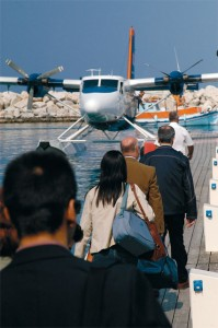 Hydroplanes cross the Aegean Sea on Airsea Lines 9 routes.
