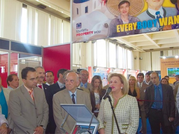 Tourism Development Minister Fanni Palli-Petralia's opening speech at the first Tourism and Property Show held at the former Athens Airport.