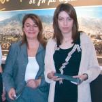 "Deputy Mayor of Keratea, Sofia Papagianni, and Maria Koutsounaki of Koutsounaki & Petroliagi Properties promote Keratea as the ""Land of value."""