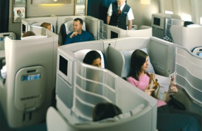 British Airways' recently re-launched business club -a true boon for long-haul business travelers- that includes up-market amenities and a unique cabin bed.