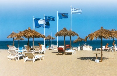 428 Greek beaches and 9 marinas awarded with a blue flag for 2007.