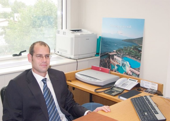 Dimitris Tyrokomos, sales manager of Aquila Hotels and Resorts.