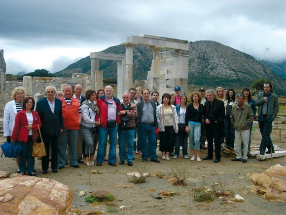 Some of HATTA guests welcomed to Naxos.