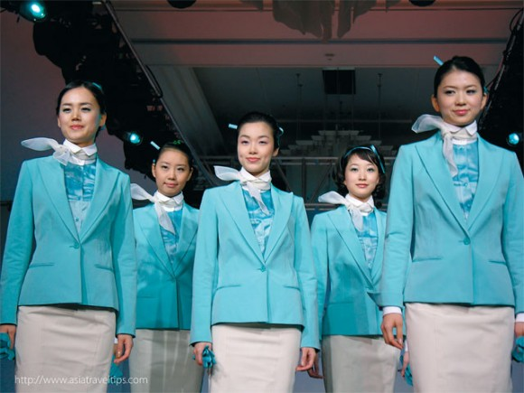 Korean's new low cost carrier may not have these uniforms but promises upmarket services.