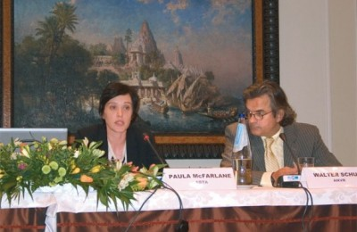 Paula MacFarland, the legal representative for the Association of British Travel Agents, explained the problems of responsibility for travel agents and tour operators concerning the EU Package Travel Directive, and other legal problems; and Walter Schut, a representative of Dutch Association of Travel Agents, explained his association's travel agency quality system at a recent HATTA conference.