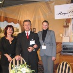 Royal Olympic Hotel's director of sales, George Michalis (center) with Vasso Roumba and Maria Serafeim, assistant sales manager. The newly refurbished five-star hotel has reopened for business and features many luxurious additions and renovations. The official opening will be held in a few months.