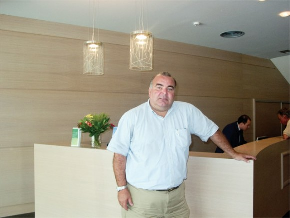 Constantine Coulouvatos, managing director of Amalia Hotel and Tourism Enterprises at the recently refurbished reception area of Amalia Hotel in Athens.